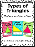 Types of Triangles Posters and Activities