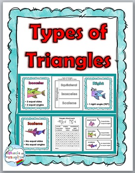 Types of Triangles Posters, Puzzles, Flap Book & More ~ Ge