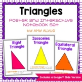 Types of Triangles Posters and Interactive Notebook INB Set