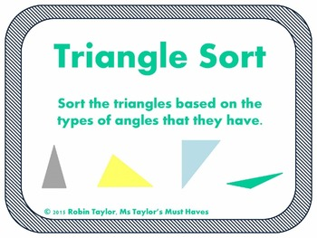 Types of Triangles Sort 4.6C