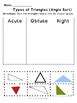 Types of Triangles Sorting Cut and Paste Worksheets