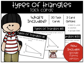 Types of Triangles Task Cards