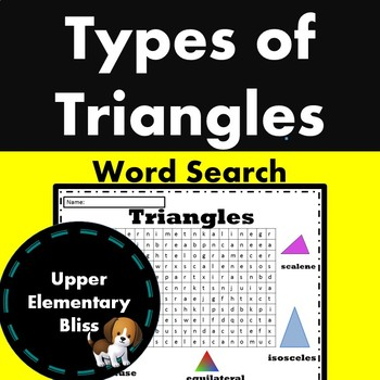 Types of Triangles WordSearch