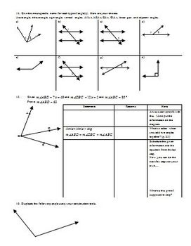 Types of Triangles and Angle Sum Theorems Fall 2013 (Editable)