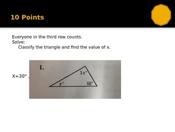 Types of Triangles and Congruence Theorems Review Game