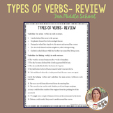 Types of Verbs- Grammar Review for Middle School