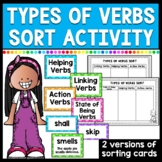 Types of Verbs Cards Sort