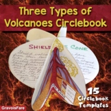 Types of Volcanoes Circlebook Activity