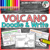 Volcano Doodle & Write - Learn the Types of Volcanoes