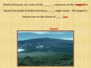 Types of Volcanoes and Eruptions Powerpoint