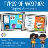 Types of Weather Digital Activities | Google Slides & SeeSaw