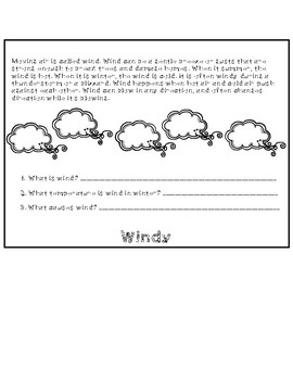 Types of Weather Flip Book