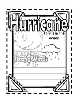 Types of Weather Interactive Notebook Posters (Printables)