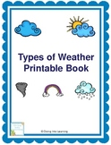 Types of Weather- Printable Book