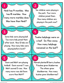 Types of Word Problems (Addition or Subtraction?)