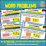 Types of Word Problems - Multiplication & Division Problem Solving Posters