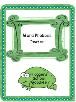 Types of Word Problems Poster in Blue