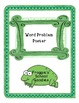 Types of Word Problems Poster in Green