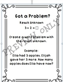 Types of Word Problems Stations for Addition