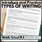 Types of Writing Lesson Plan and Practice Questions
