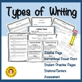 Types of Writing - Activities to Determine Narrative, Expo