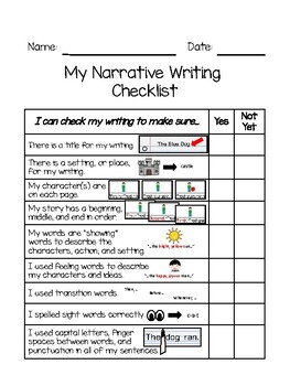 Types of Writing Checklists BUNDLE