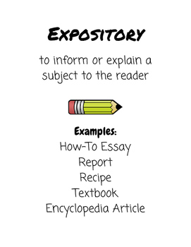 Types of Writing - Expository, Persuasive, Narrative, Descriptive