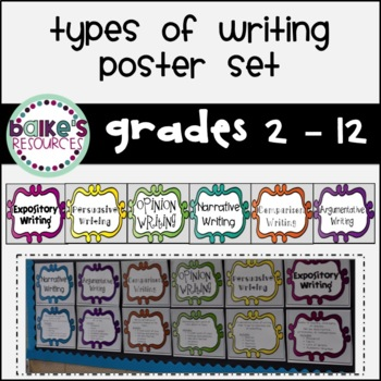 Types of Writing Poster Set