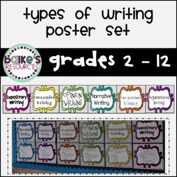 Types of Writing Poster Set