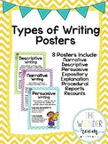 Types of Writing Posters - Chevron Posters
