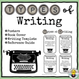 Types of Writing Posters, writing template, reference guide, & book cover