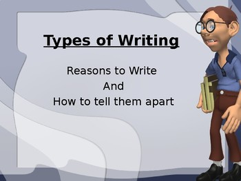 Types of Writing Power Point