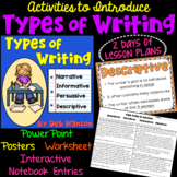 Types of Writing PowerPoint (2-day Lesson!)