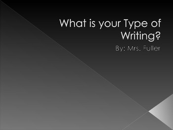 Types of Writing w/ Assignment
