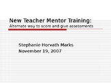 Types of assessments and scoring tools