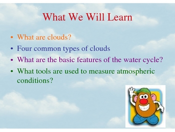 Types of clouds PPT... Are clouds really made of mashed potatoes?