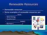 Types of energy powerpoint notes - skeletal and complete
