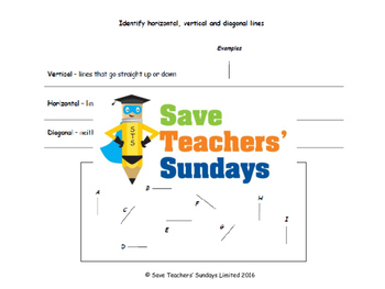 Types of lines (combined) lesson plans, worksheets and more