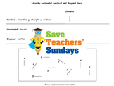 Types of lines (combined) worksheets (2 levels of difficulty)