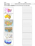 Zip File: Types of maps- 2 powerpoints, graphic organizer, and exit slip