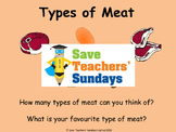 Types of meat and Cooking Methods Lesson plan, PowerPoint and Worksheets