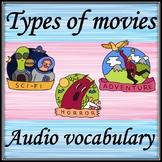 Types of movies. Audio vocabulary.