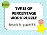 Types of percentage word puzzle