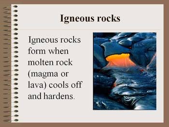Rocks: three kinds of rocks; properties of rocks ~ a power point presentation