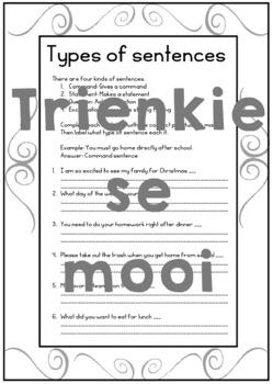 Types of sentences 6