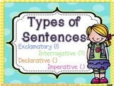 Types of sentences: Third Grade!