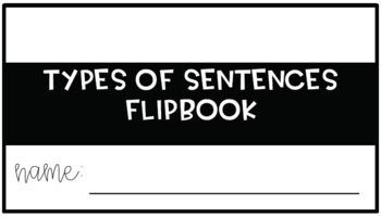 Types of sentences matching activity & flipbook {bundle}