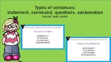 Types of sentences (scoot/ task cards)