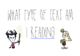 Types of text - posters