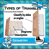 Types of triangles classification interactive notebook mat